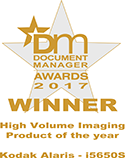 Kodak Alaris High Volume Imaging Award