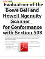 Evaluation of the Bowe bell and Ngenuity Scanner for 508 Conformance