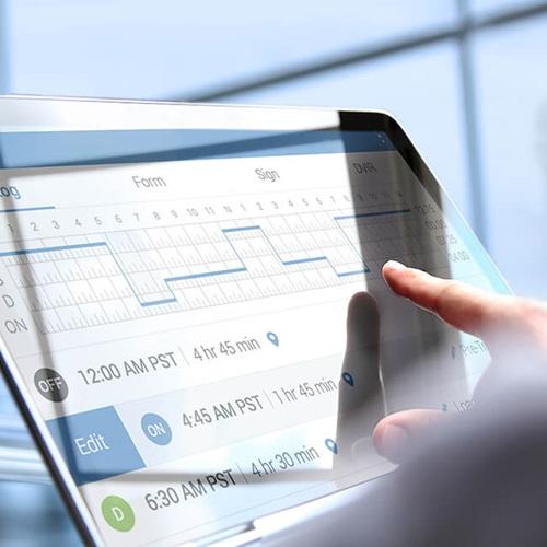 truck dealership driver tablet logbook