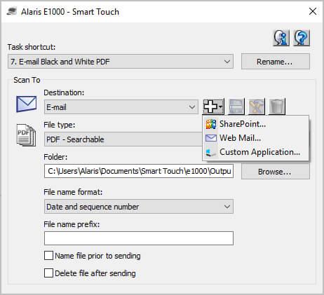 Alaris Smart Touch Menu